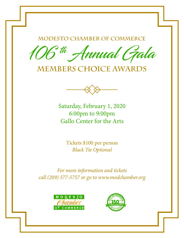 Gala 2020 Awards Flyer Modesto Chamber Of Commerce